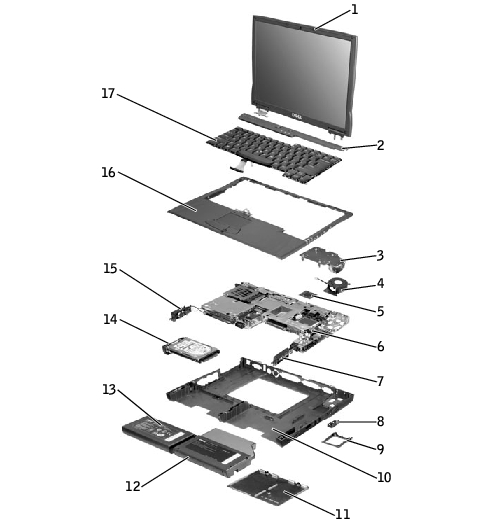 System Components  Dell Latitude C610  C510 Service Manual