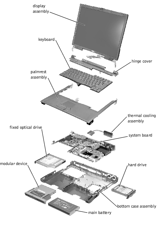 Removing And Replacing Parts   Dell Latitude C800  C805